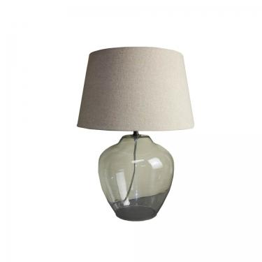 Glass Lamp w/ Burlap Shade  main image