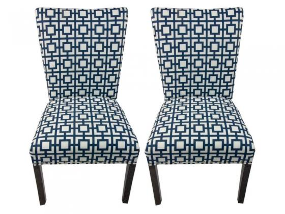 Blue Pattern Side Chairs  main image