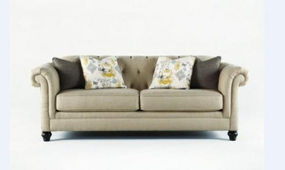 Linen Chesterfield Sofa:  main image