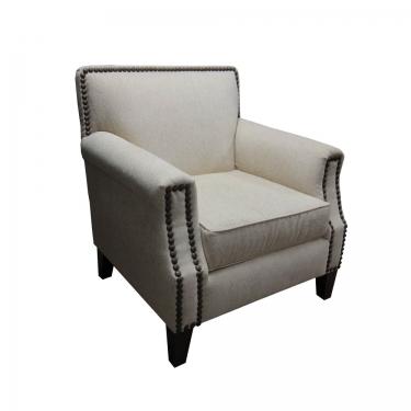 Cream Nail Head Arm Chair main image