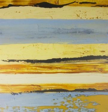 Yellow and Blue Abstract Art main image