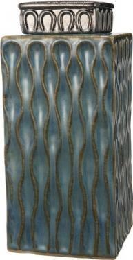 Blue Osiris Lidded Jar  main image