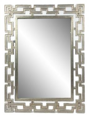 Gold/Silver Greek Mirror main image