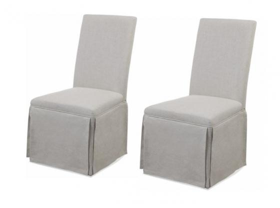Linen Upholstered Parsons Chairs main image