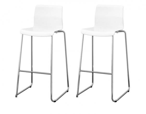 Chrome Stools w/ White Acrylic Seats main image