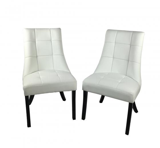 Four White Dining Chairs main image
