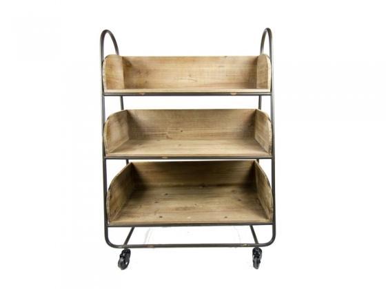 Pine Wood Rolling Cart main image