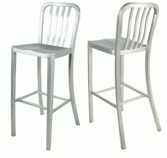 Aluminum bar stools with back main image
