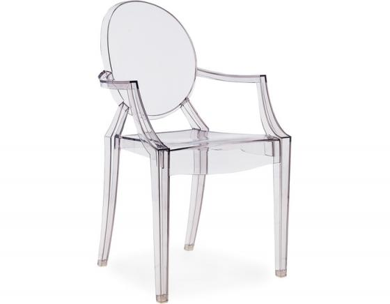 Clear Ghost Arm Chair main image