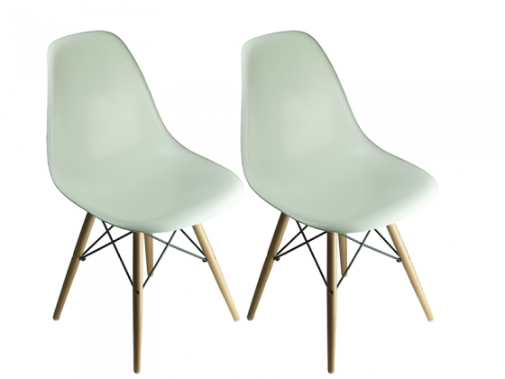 Set of 2 - Creme Eames Style Chairs main image