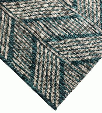 Indoor/Outdoor Teal Rug  5'x7'7 main image