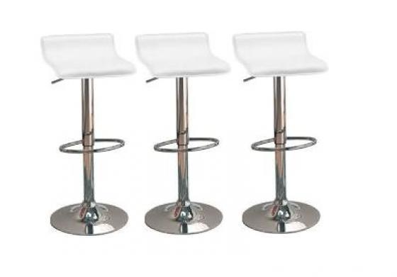 White Adjustable Bar Stools main image