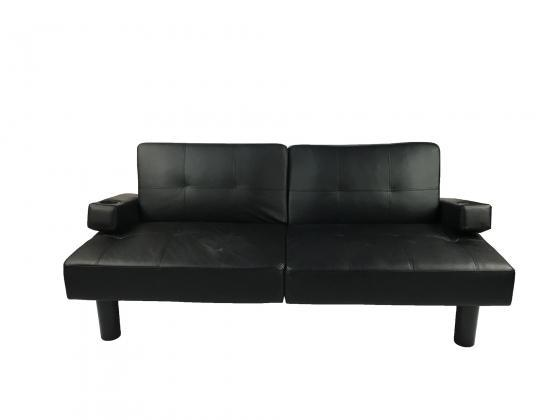 Faux Leather Futon Sofa main image