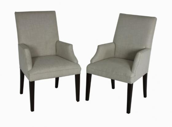 Cream Solid Accent Chair Set main image