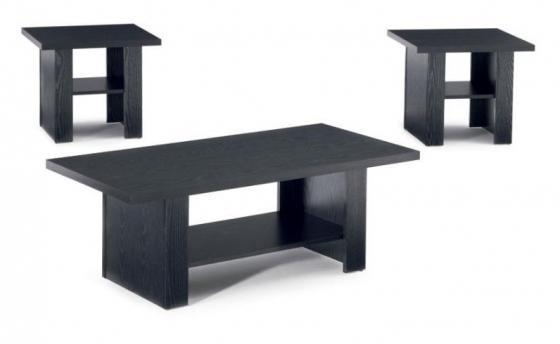 BLACK OAK 3PC TABLE SET main image