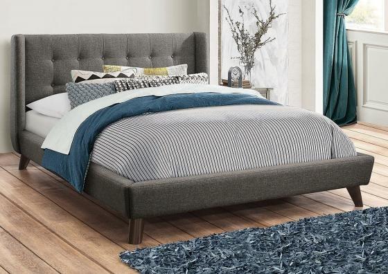 Charrington Grey Queen Size Platform Bed main image
