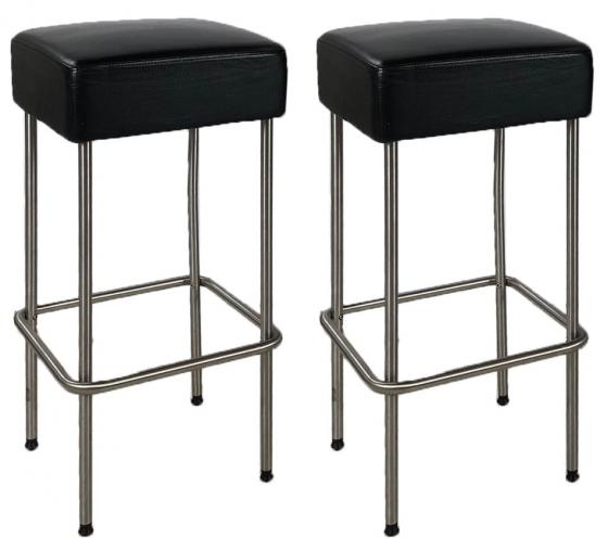 Leather Square Bar Stools main image