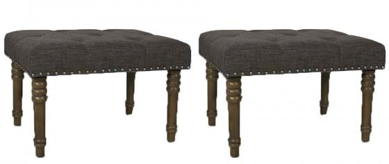 Upholstered Nailhead Ottomans main image