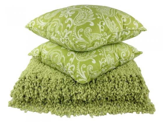 Lime Green Pillows and Throw Blanket main image