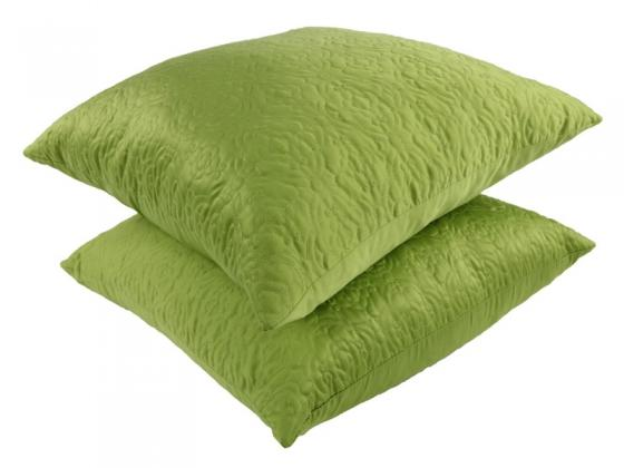 Soft Lime Green Feather Accent Pillows main image