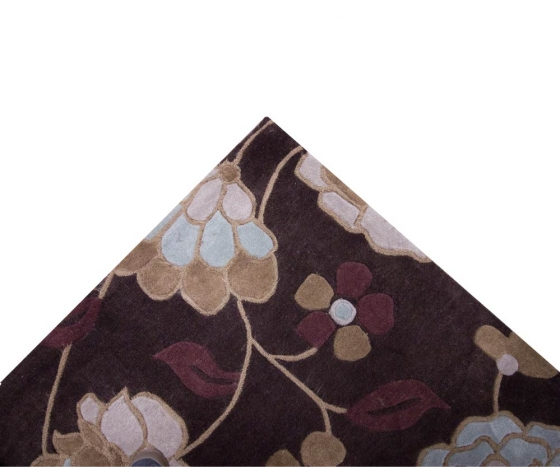 Chocolate Floral Rug 5'x7' main image