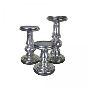 Mercury Glass Candle Holder Set (3) main image