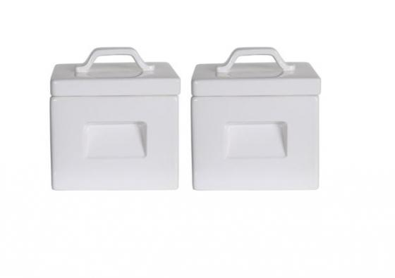 White Square Canisters main image
