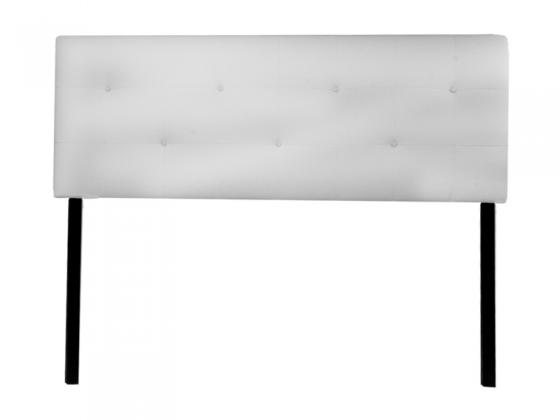 Queen White Leather Headboard