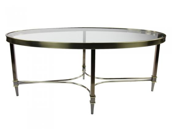 Oval Glass Coffee Table main image