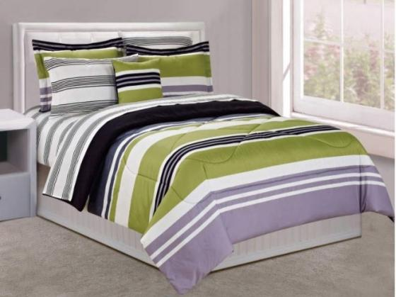 Full Multi Colored Bedding Set