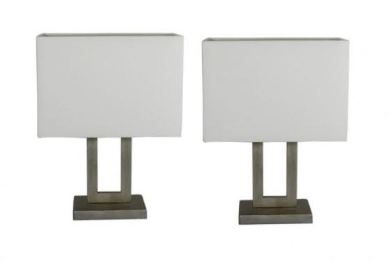 Silver Rectangle Lamps main image