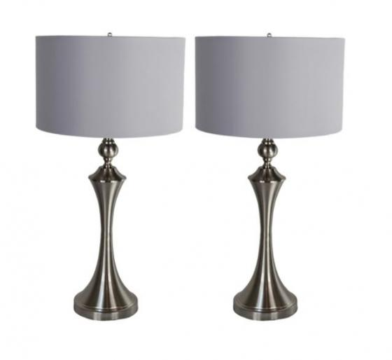 Pair of Silver Lamps main image