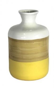 Yellow and White Vase main image