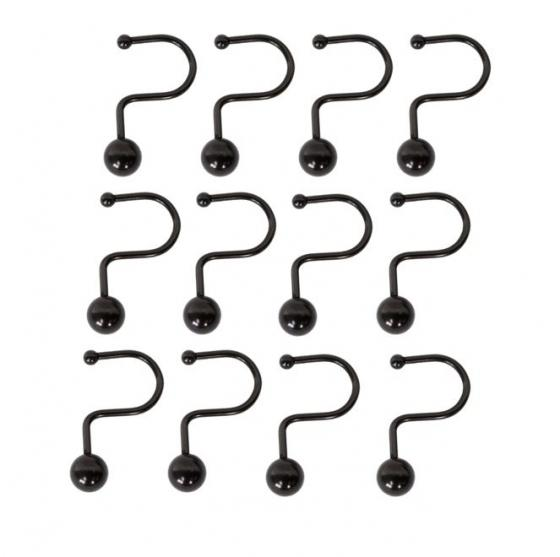 Set of 12 Bronze Shower Hooks main image
