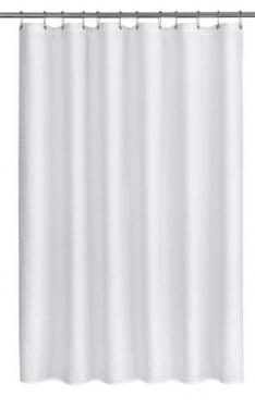 White Shower Curtain With Hooks main image