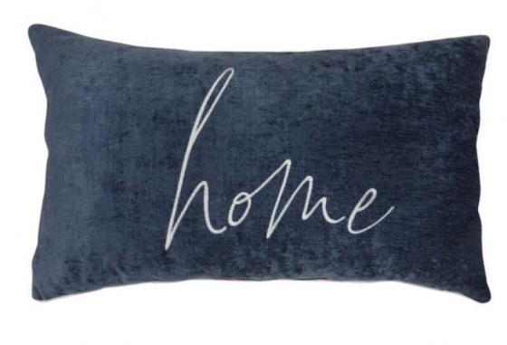 Dark Blue Chenille Pillow main image