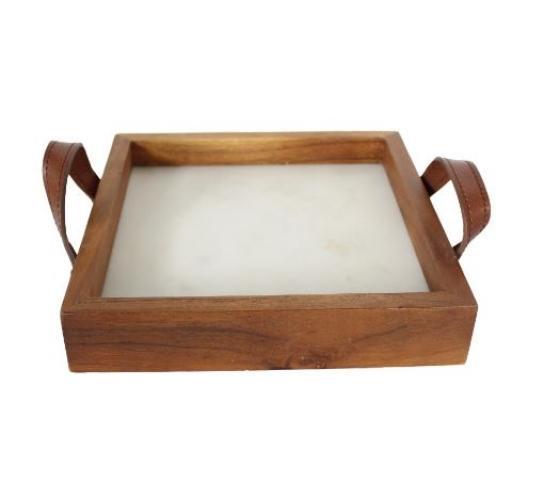 Marble & Wood Tray main image