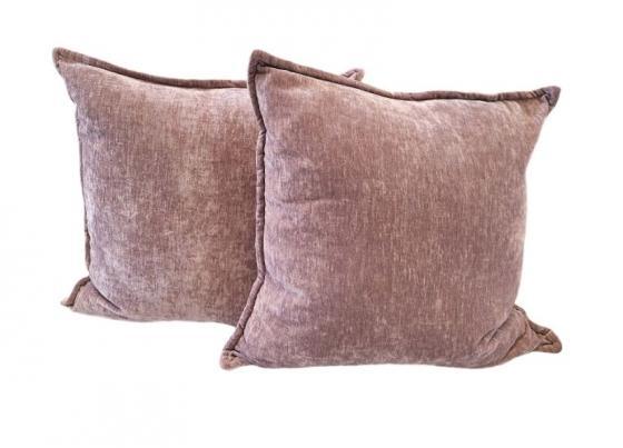 Reversible Plum & Pink Velvet Pillows main image