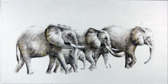 Wandering Elephants Art main image