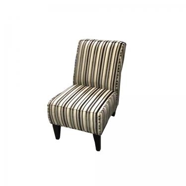Striped Slipper chair w/ natural tones main image