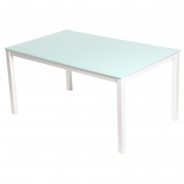 Alta Dining Table with White Metal Legs main image