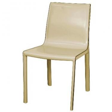 Set of 4 - Gervin Vanilla Leather Chairs main image