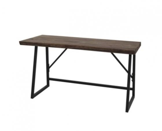 Carsten Natural Desk w/ Black Iron Legs