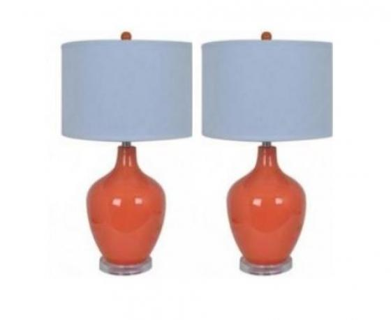 Avery Orange Table Lamps set of two main image