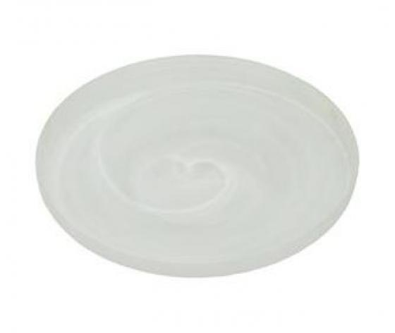 White Alabaster Glass Platter w/ Holder main image