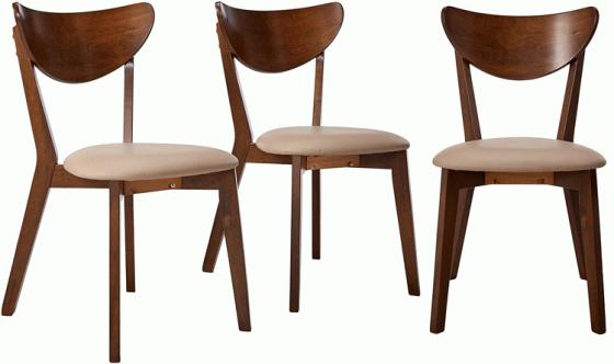 Set of 3 - Kersey Walnut Chairs main image