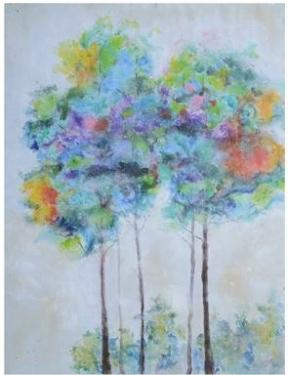 Abstract Tree Bright Painting main image