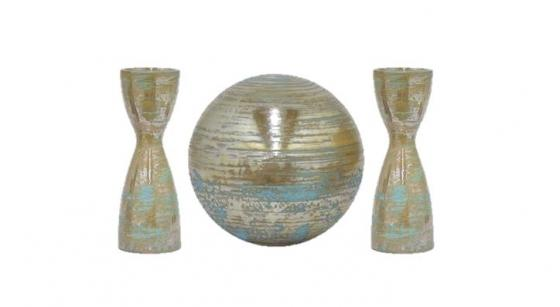 Ceramic Candle Holders & Orb main image