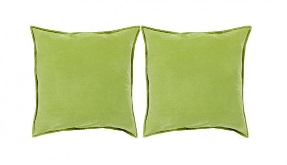 Down Olive Cotton Velvet Pillows (2) main image