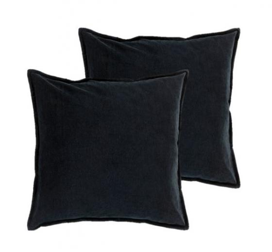 Black Cotton Velvet Pillows main image